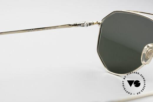 Zollitsch Cadre 120 Medium 80's Aviator Glasses, golden frame with dark green lenses (100% UV protection), Made for Men