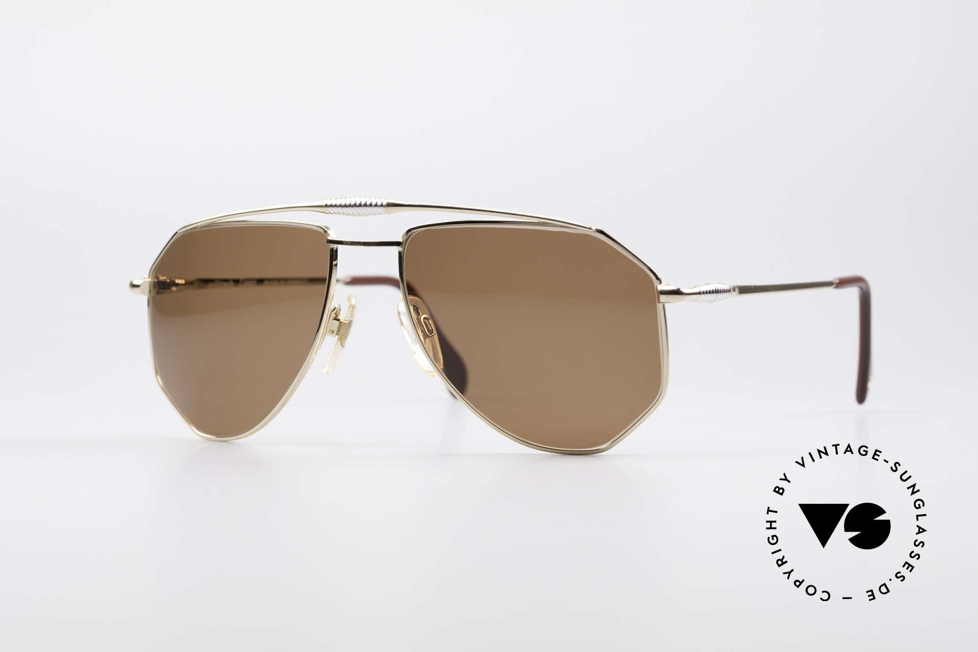 Zollitsch Cadre 120 Medium 80's Sunglasses, vintage Zollitsch designer sunglasses from the late 80's, Made for Men