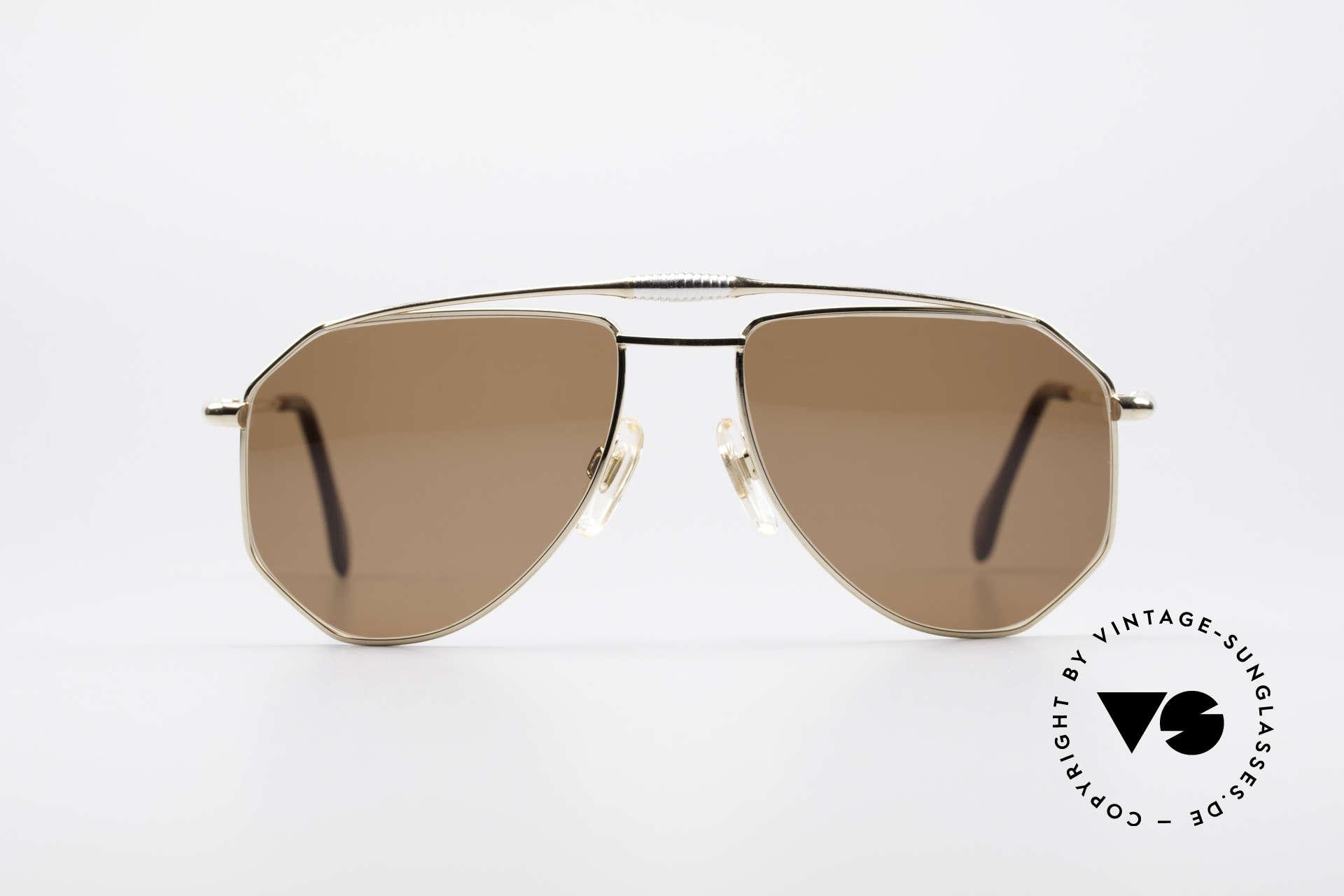 Zollitsch Cadre 120 Medium 80's Sunglasses, distinctive frame for men (outstanding quality, Germany), Made for Men