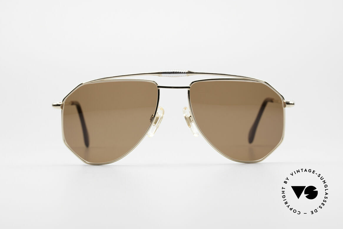 Zollitsch Cadre 120 Medium 80's Sunglasses, distinctive frame for men (outstanding quality, Germany), Made for Men