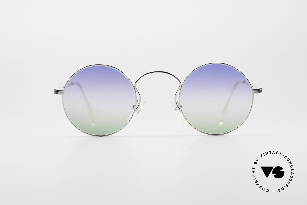 Jean Paul Gaultier 55-0172 Round Designer Sunglasses, round metal frame; lightweight & very comfortable, Made for Men and Women