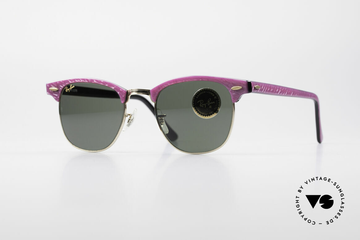 Ray Ban Clubmaster Bausch & Lomb USA Shades, original vintage 1980's sunglasses by RAY-BAN, Made for Women