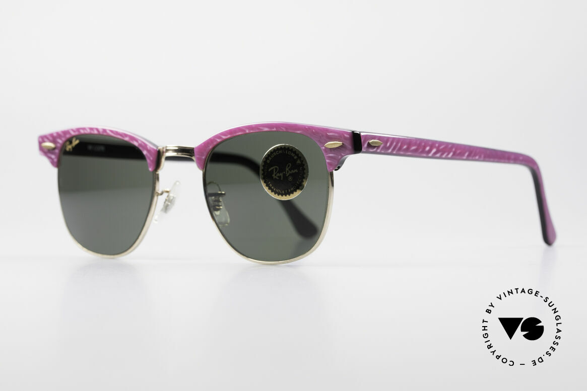 Ray Ban Clubmaster Bausch & Lomb USA Shades, rare designer sunglasses, made in USA (by B&L), Made for Women