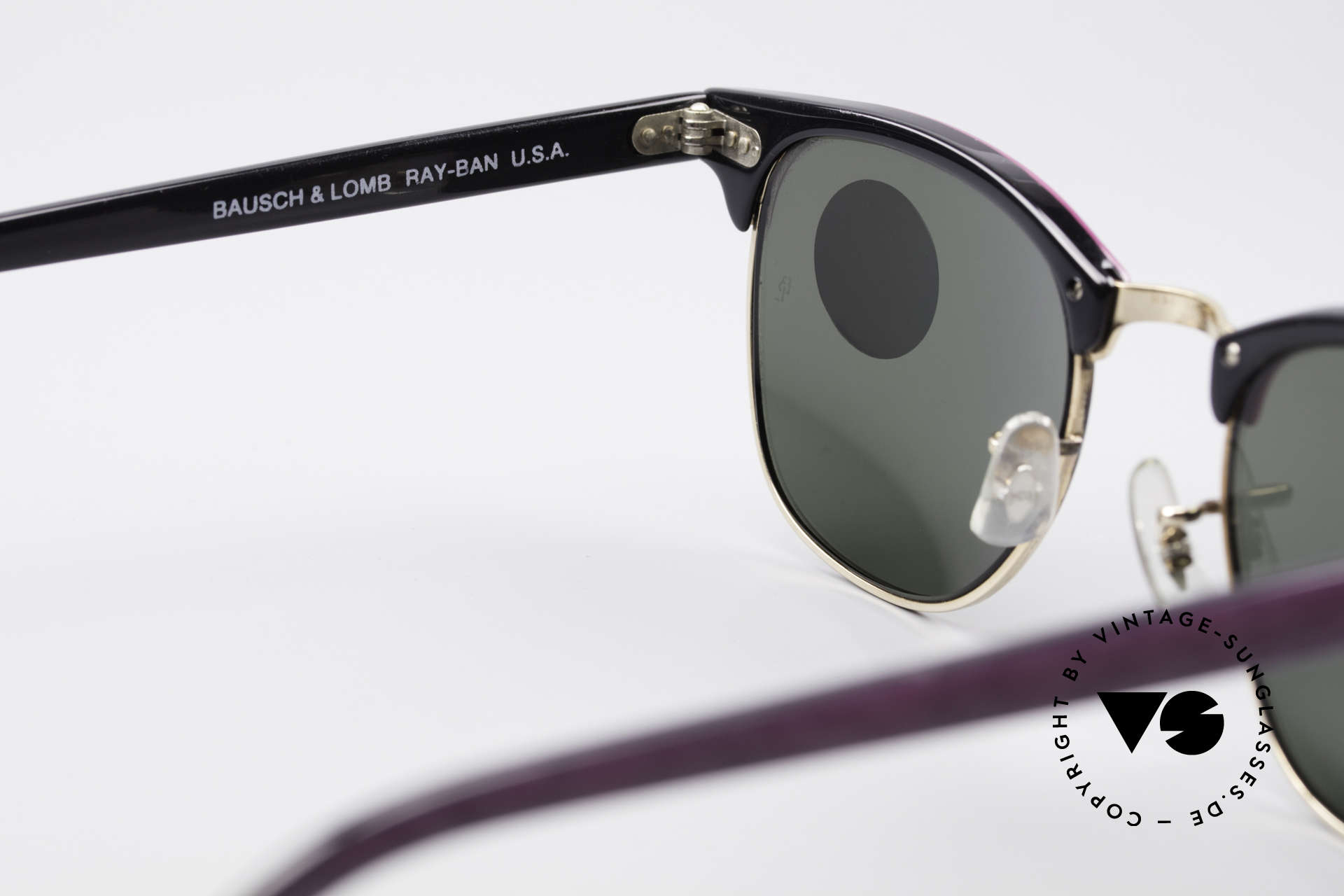Ray Ban Clubmaster Bausch & Lomb USA Shades, never worn (like all our old Ray Ban sunglasses), Made for Women