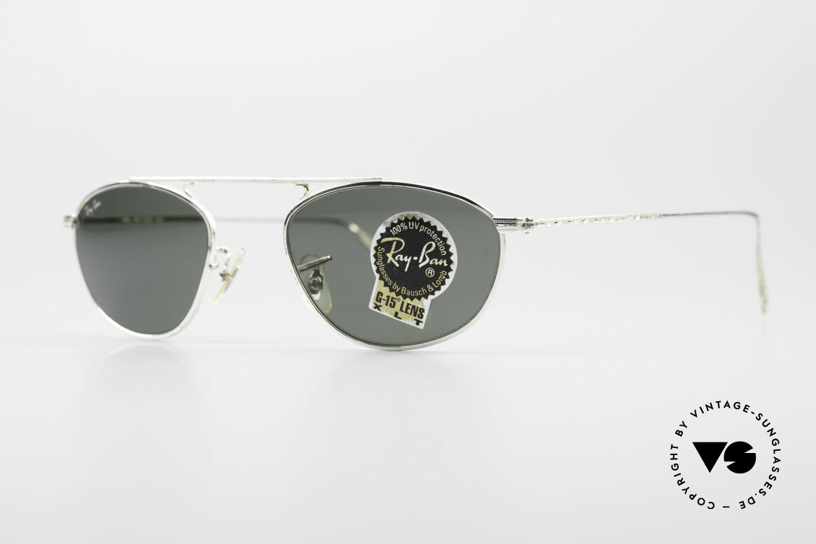 Ray Ban Modified Aviator Vintage B&L USA Frame, legendary B&L mineral lenses (100% UV protection), Made for Men and Women