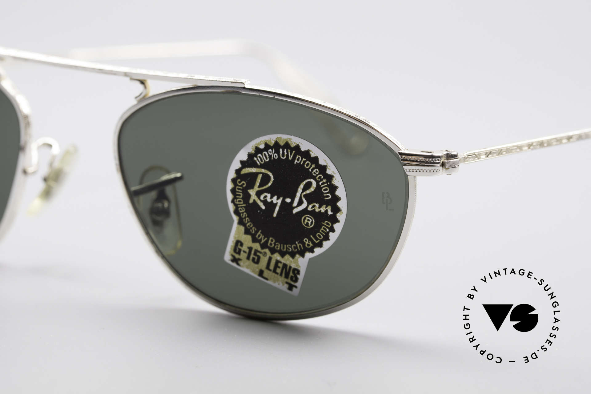 Ray Ban Modified Aviator Vintage B&L USA Frame, unworn rarity (incl. orig. case & packing by Ray-Ban), Made for Men and Women