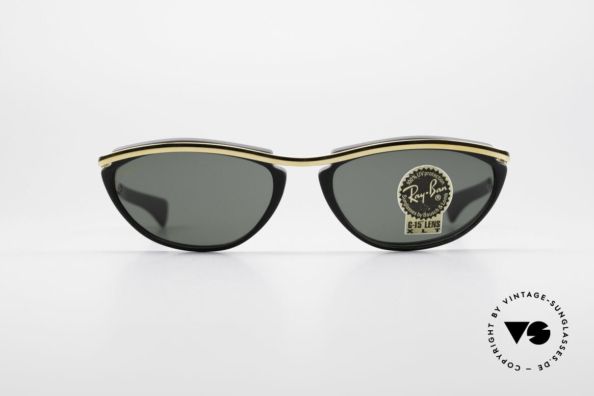 Ray Ban Olympian IV Authentic 90's B&L USA Shades, dull black frame with 1st class G15 B&L lenses, Made for Men and Women
