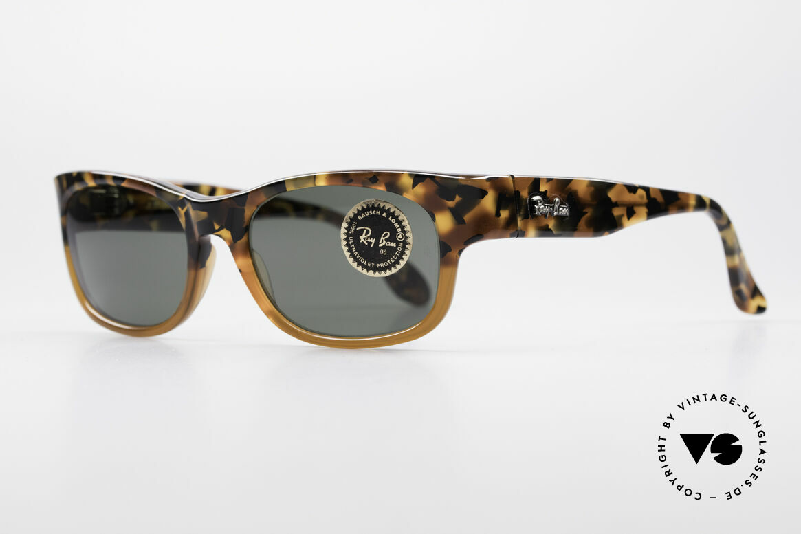 Ray Ban Bohemian Bausch & Lomb USA Glasses, interesting frame pattern in black and brown, Made for Men and Women