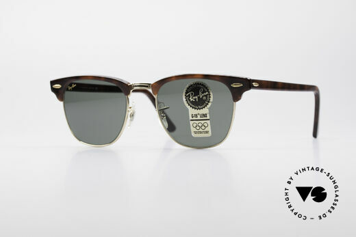 Ray Ban Clubmaster Bausch & Lomb USA Shades Details
