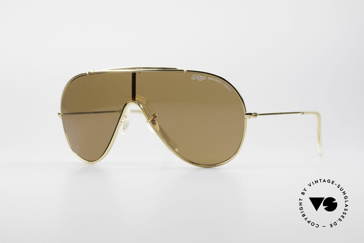 Bausch & Lomb Wings Amber Rose Vintage Shades