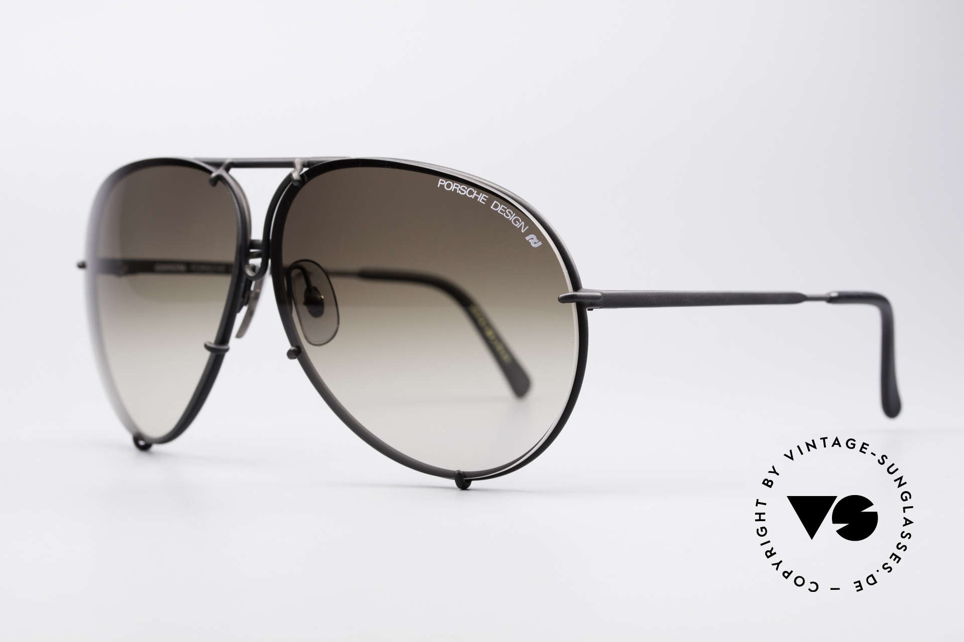 Porsche 5621 Large 80's Aviator Shades, the legend with interchangeable lenses - true vintage, Made for Men