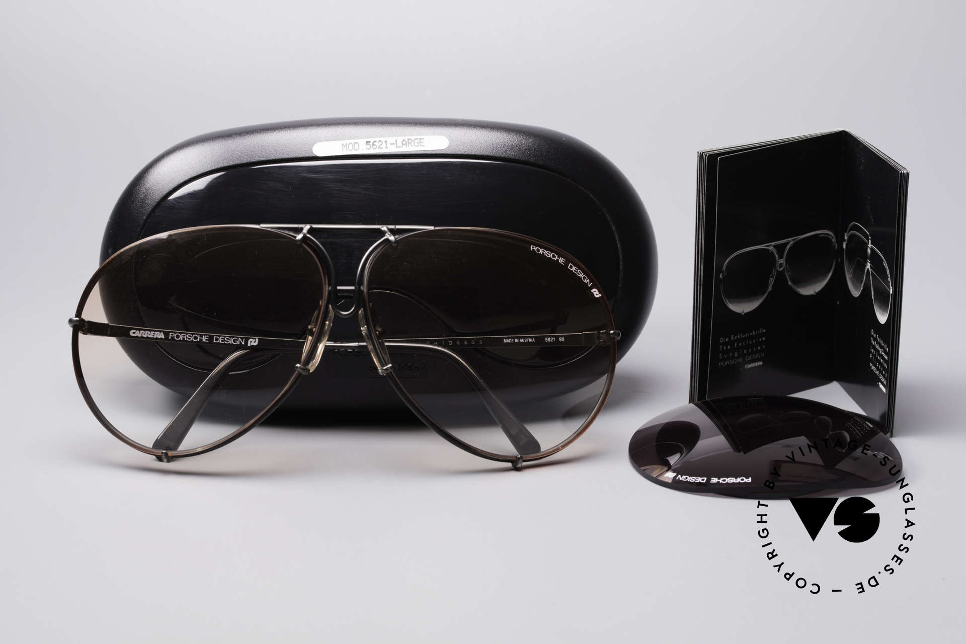 Porsche 5621 Rare 80's XL Aviator Shades, ULTRA RARE model with ORANGE-GRADIENT lenses, Made for Men