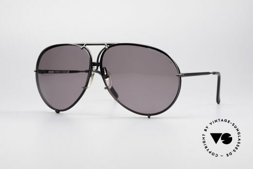Porsche 5621 Rare 80's XL Aviator Shades, orange lenses have a few small scratches; XL size!!, Made for Men