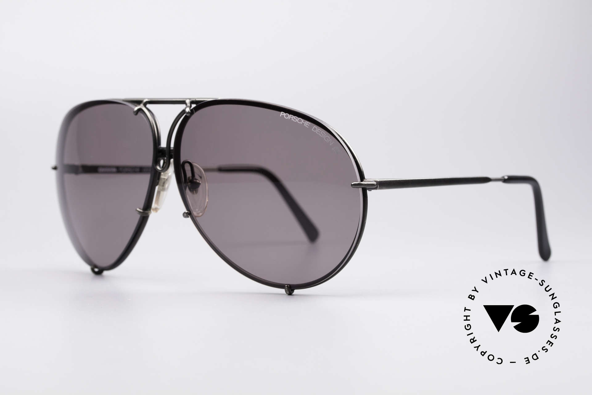 Porsche 5621 Rare 80's XL Aviator Shades, frame and gray sun lenses are in a flawless condition, Made for Men