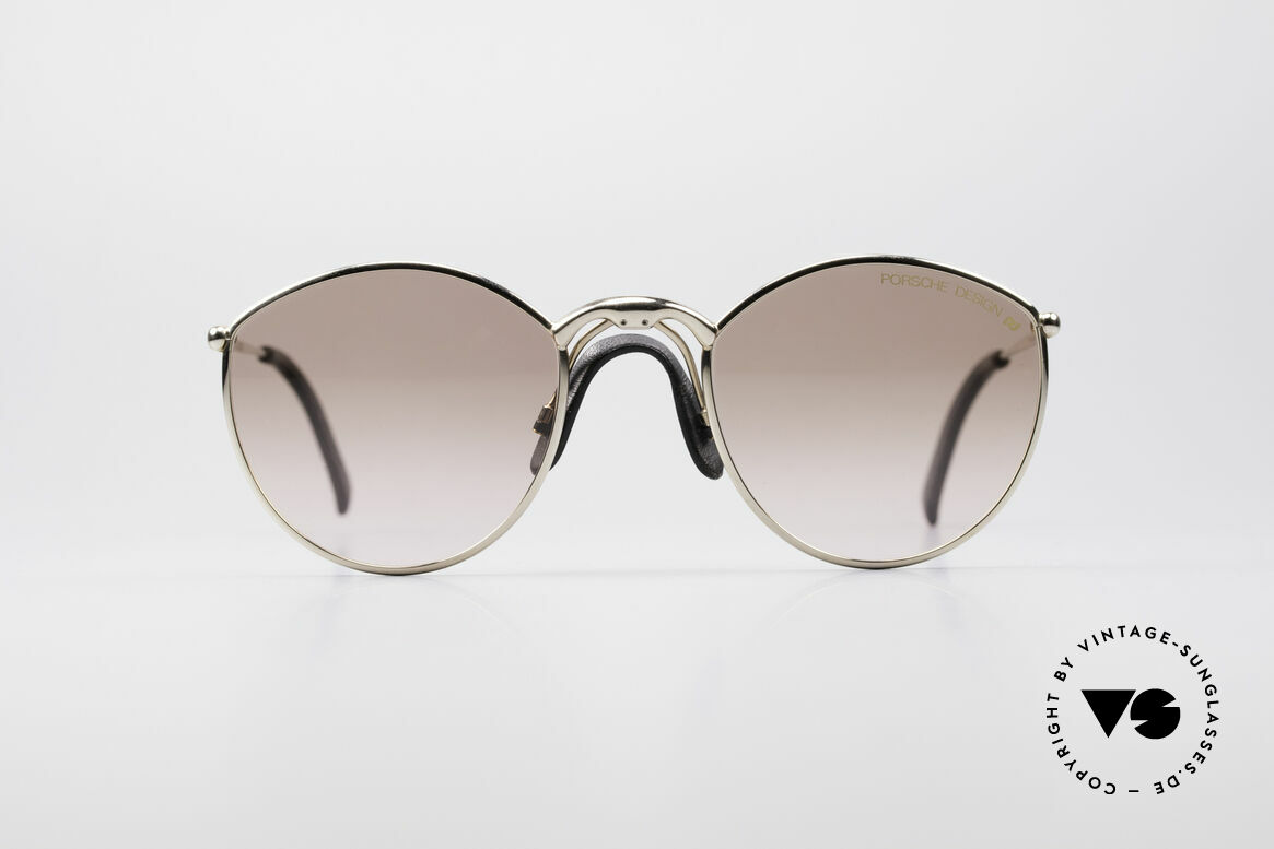 Porsche 5638 True 90's Vintage Glasses, gold finished frame with comfortable 'saddle bridge', Made for Men and Women