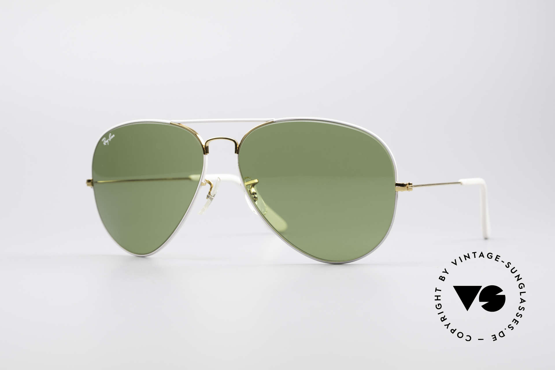 Ray Ban Large Metal II Flying Colors Limited Edition, vintage RAY-BAN designer sunglasses in L size 62/14, Made for Men