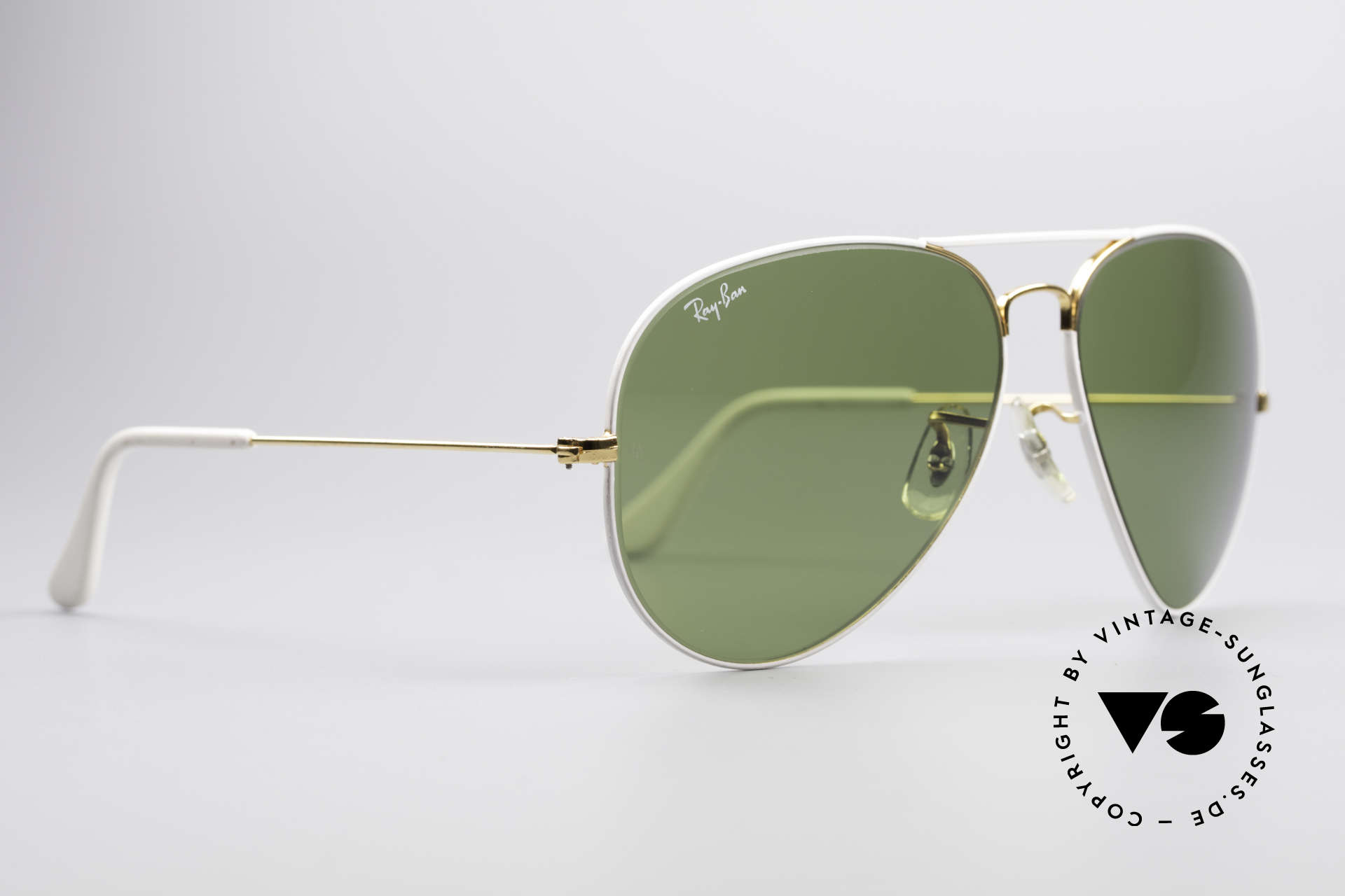 Ray Ban Large Metal II Flying Colors Limited Edition, made in the 1970's and 1980's by Bausch&Lomb, USA, Made for Men