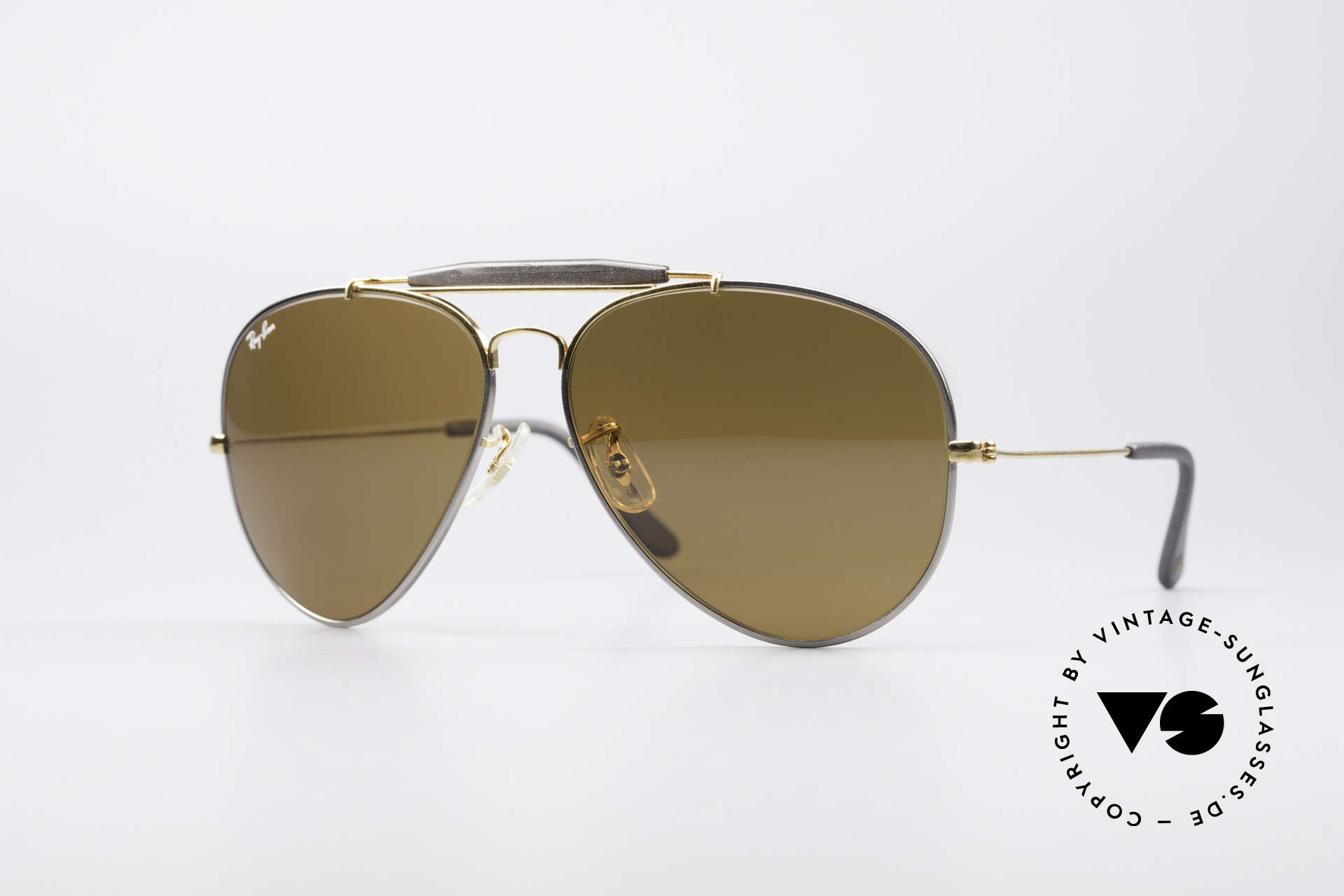 Ray Ban Outdoorsman II Precious Metals Titanium, costly vintage RAY-BAN B&L aviator sunglasses, Made for Men
