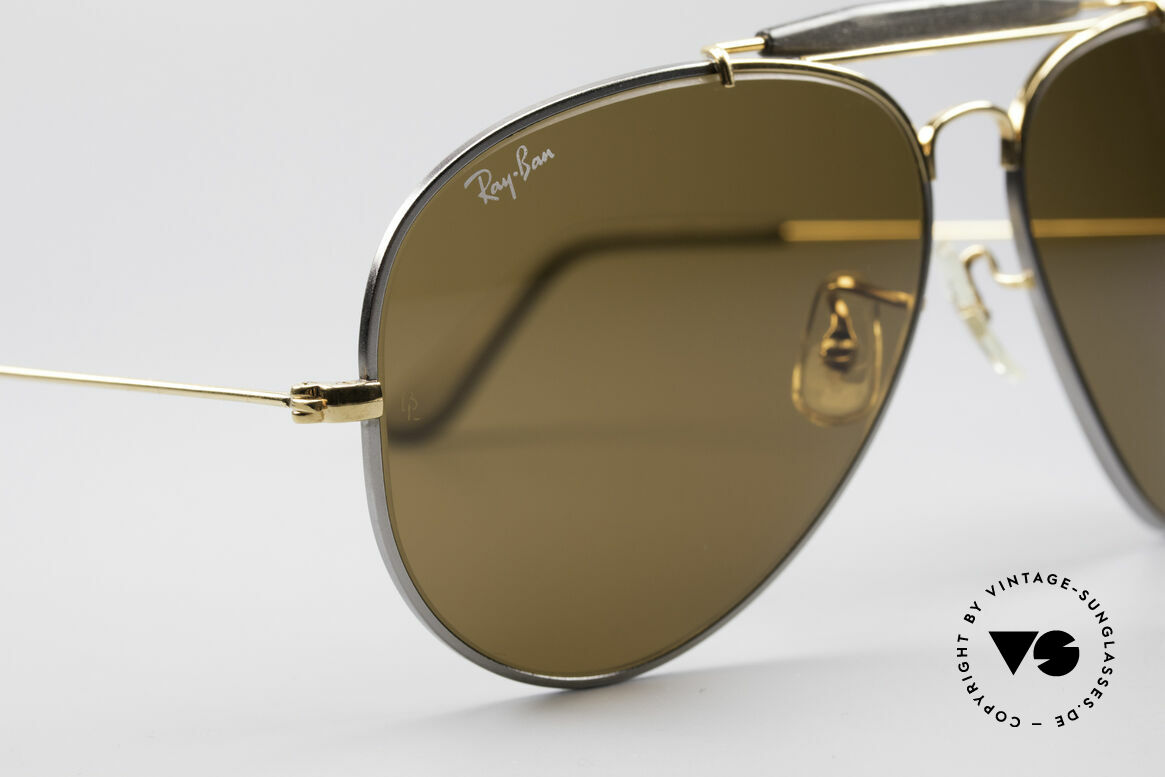 Ray Ban Outdoorsman II Precious Metals Titanium, made in the 1970's & 80's by Bausch&Lomb, USA, Made for Men