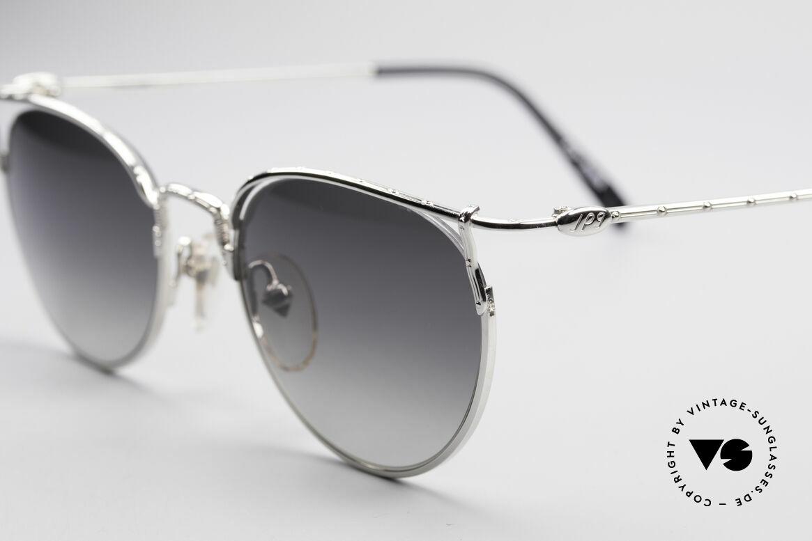 Jean Paul Gaultier 55-3177 Semi Rimless Vintage Frame, dark grey-gradient sun lenses (100% UV protec.), Made for Men and Women