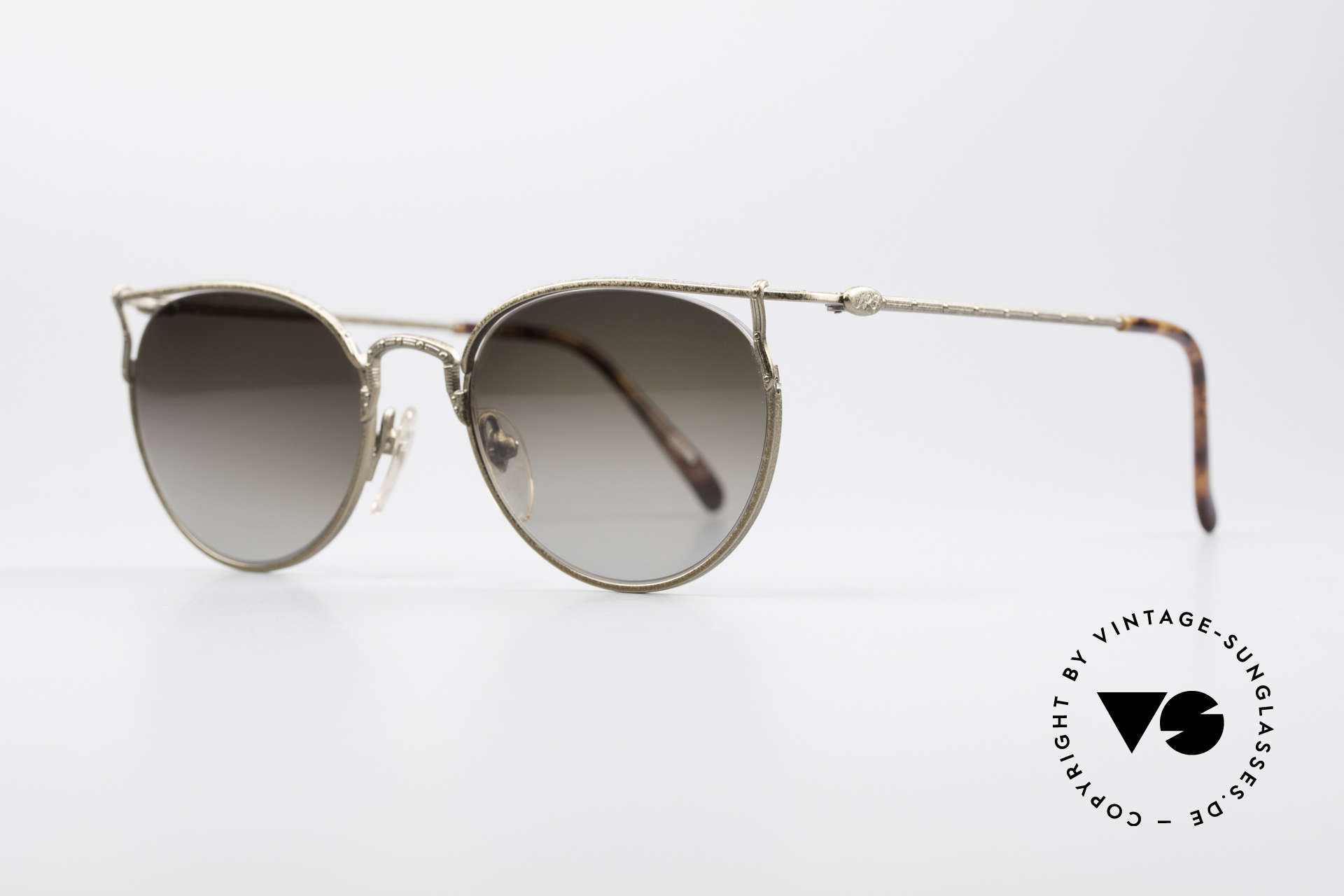 Jean Paul Gaultier 55-3177 Interesting Vintage Frame, interesting construction (semi rimless setting), Made for Men and Women
