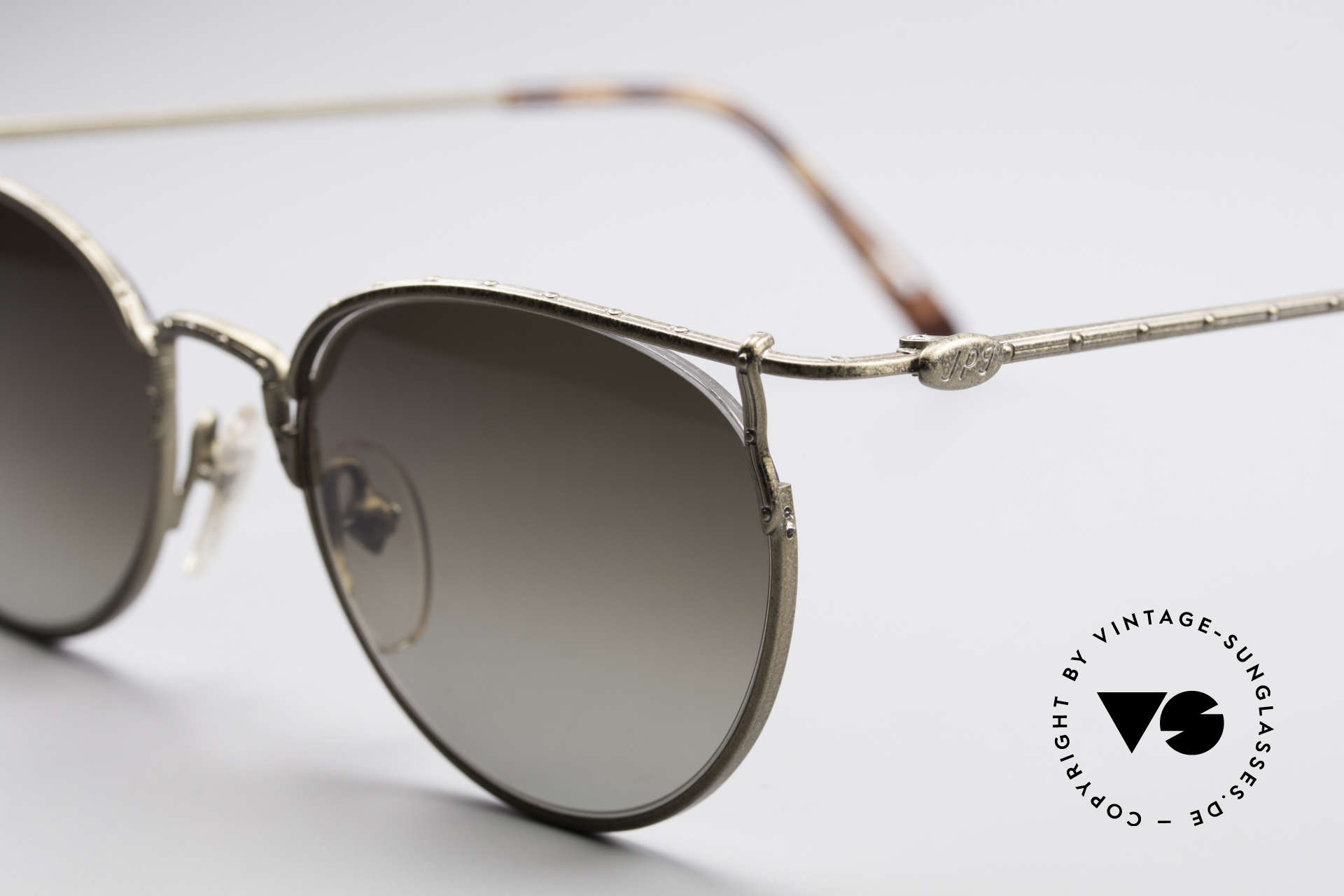 Jean Paul Gaultier 55-3177 Interesting Vintage Frame, dark brown-gradient sun lenses; 100% UV protec., Made for Men and Women