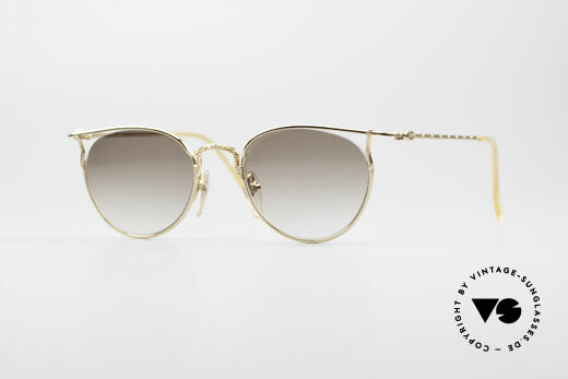 Jean Paul Gaultier 55-3177 Gold Palted Vintage Frame Details