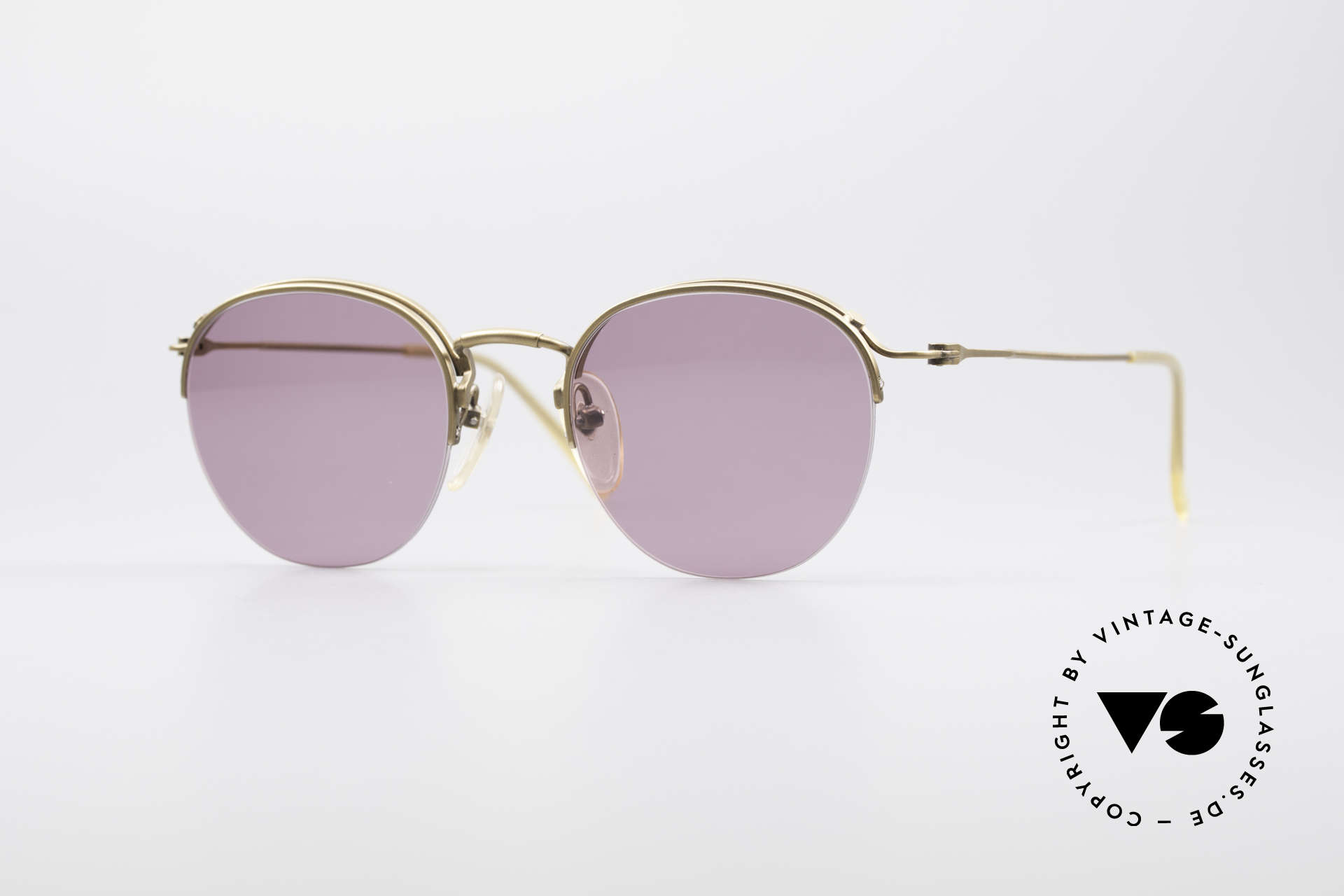 Jean Paul Gaultier 55-1172 Half Rimless Sunglasses, noble Jean Paul GAULTIER 90's designer shades, Made for Men and Women