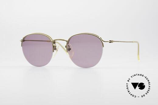 Jean Paul Gaultier 55-1172 Half Rimless Sunglasses Details