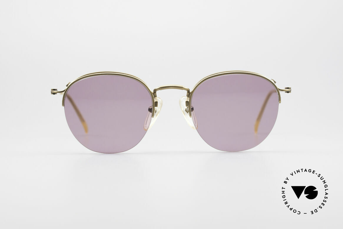 Jean Paul Gaultier 55-1172 Half Rimless Sunglasses, lightweight frame with numerous fancy details, Made for Men and Women