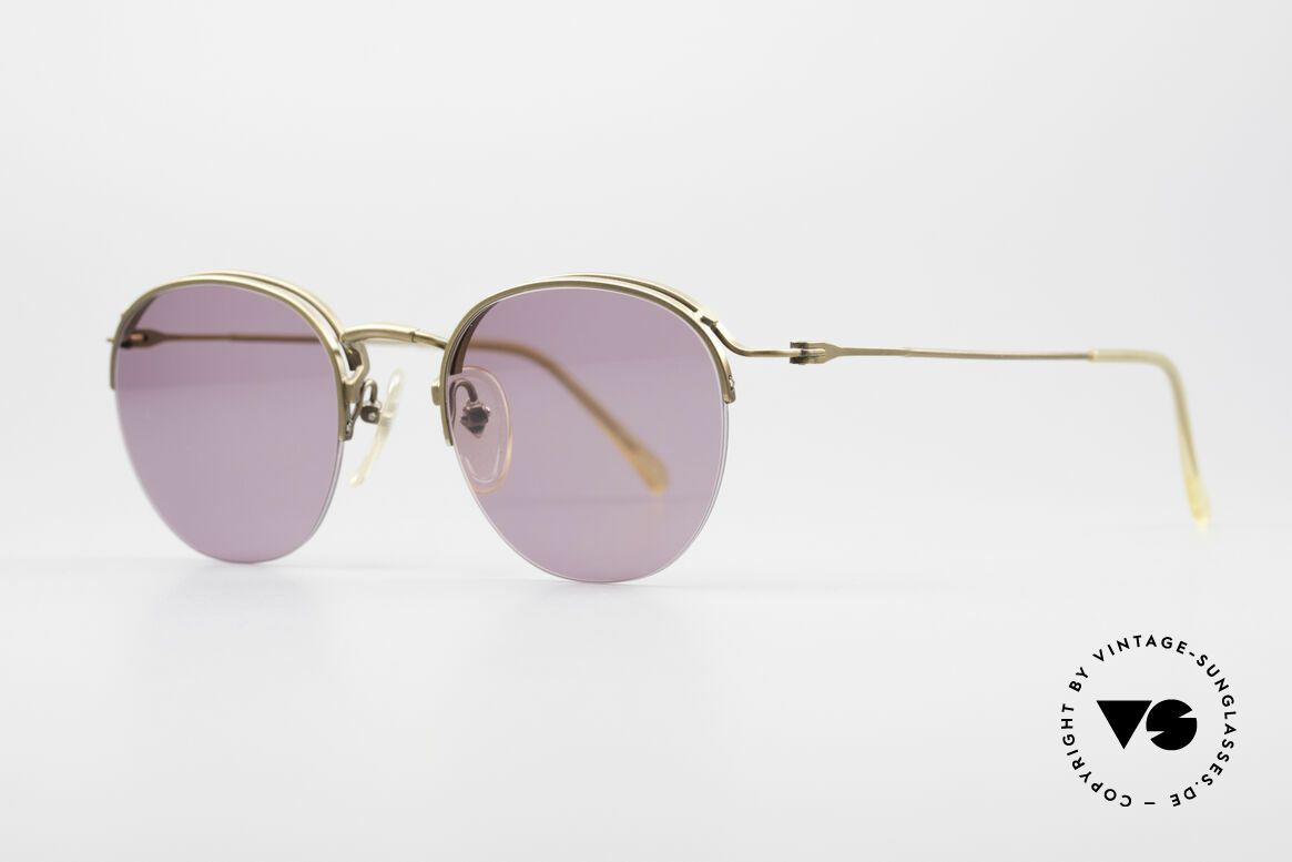 Jean Paul Gaultier 55-1172 Half Rimless Sunglasses, interesting (semi rimless) frame construction, Made for Men and Women