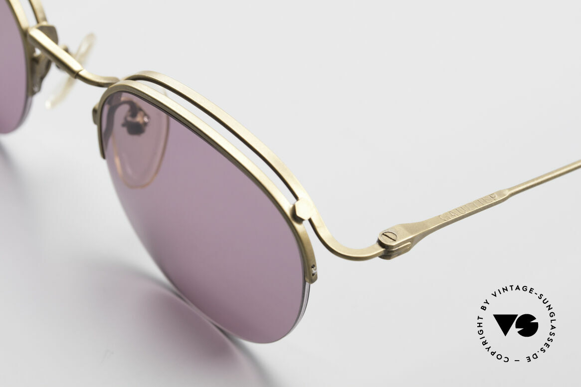 Jean Paul Gaultier 55-1172 Half Rimless Sunglasses, unworn (like all our rare JPG designer glasses), Made for Men and Women