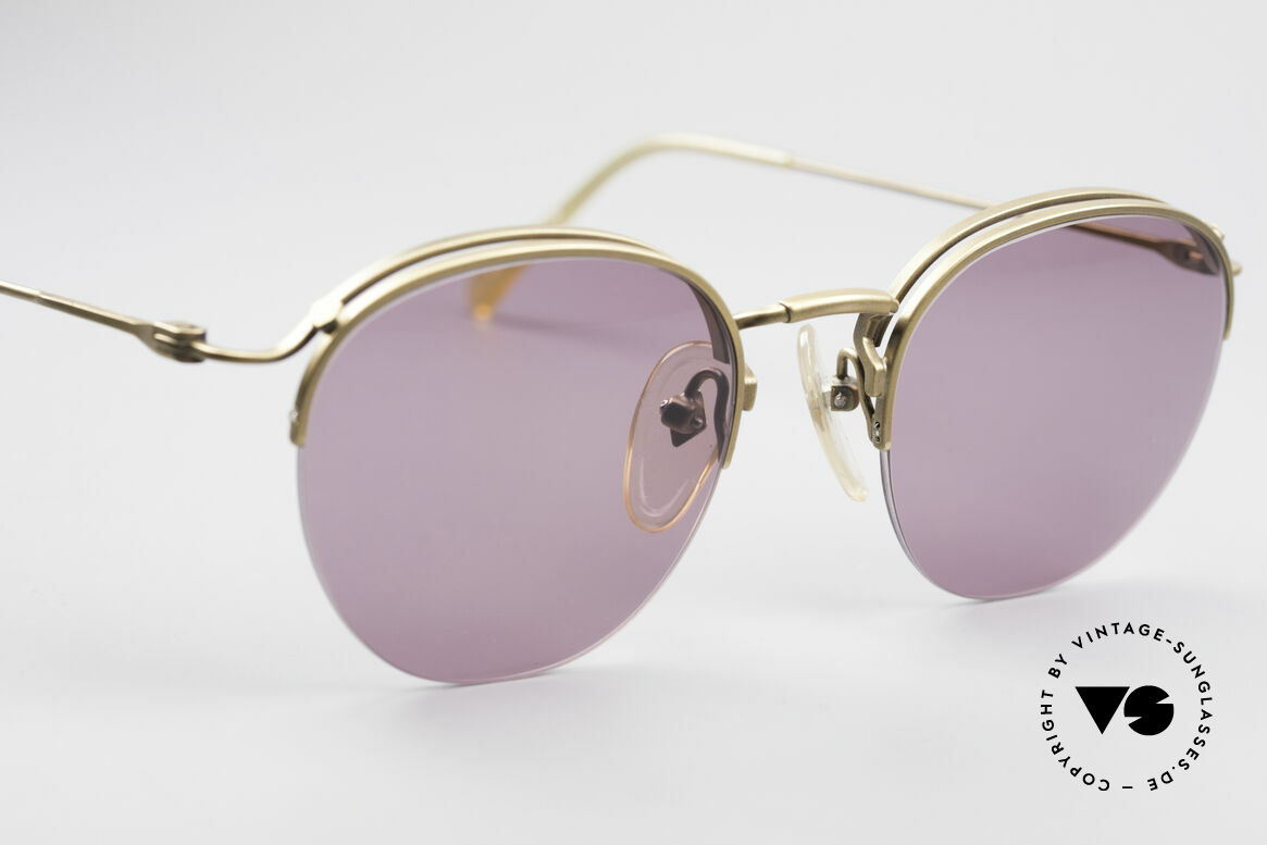 Jean Paul Gaultier 55-1172 Half Rimless Sunglasses, great color contrast between lenses and frame, Made for Men and Women