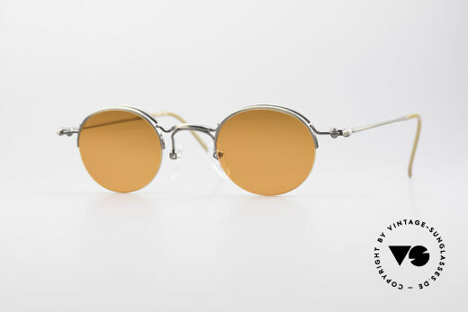 Jean Paul Gaultier 55-7108 Small Vintage Panto Glasses Details