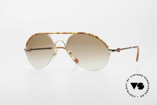 Bugatti 64919 90's Semi Rimless Sunglasses Details