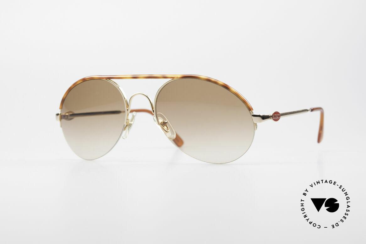 Bugatti 64919 90's Semi Rimless Sunglasses