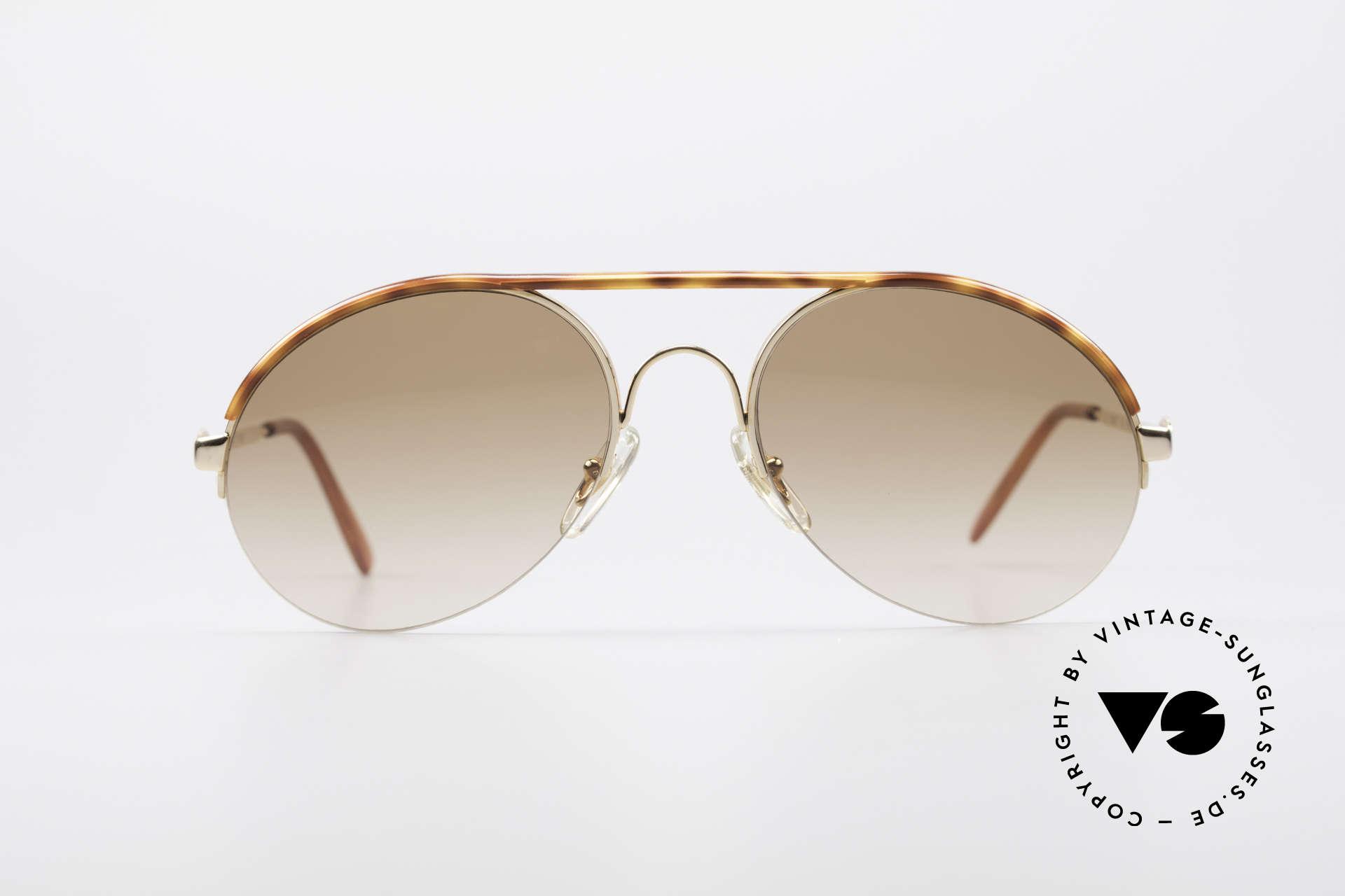 Bugatti 64919 90's Semi Rimless Sunglasses, crafted around 1990 in France (top craftsmanship), Made for Men