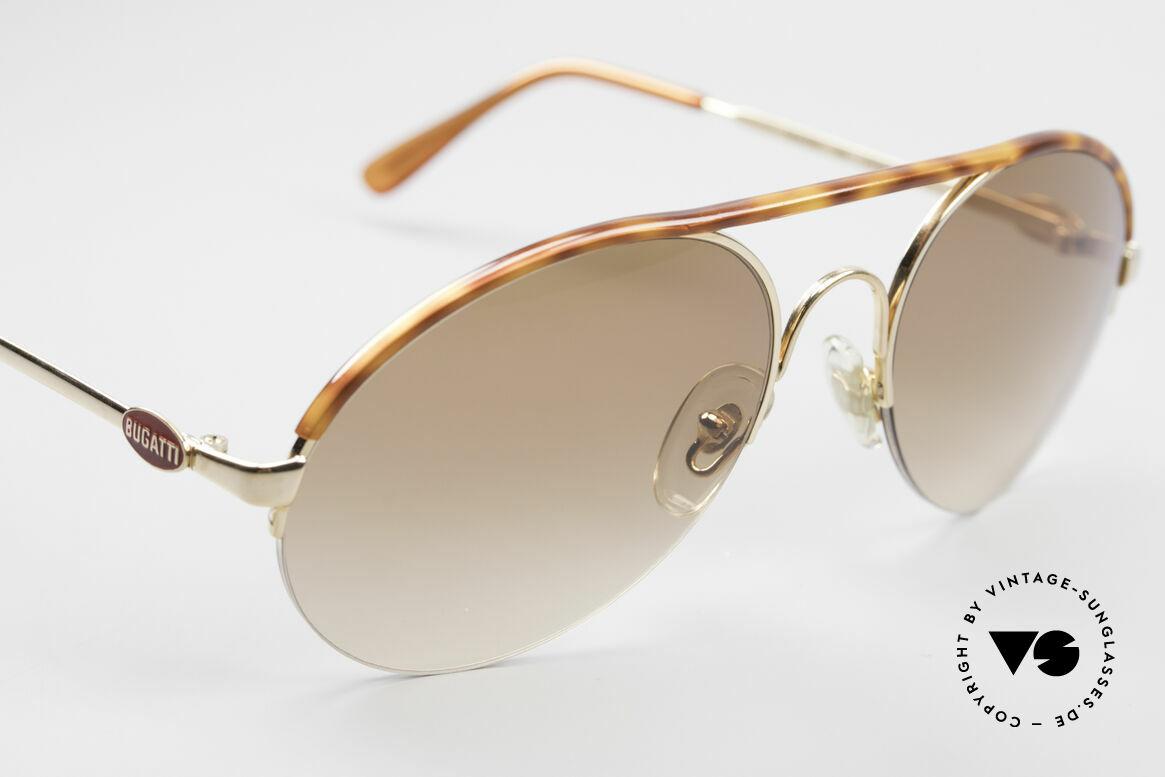 Bugatti 64919 90's Semi Rimless Sunglasses, a real classic, semi-rimless, true gentlemen's style, Made for Men