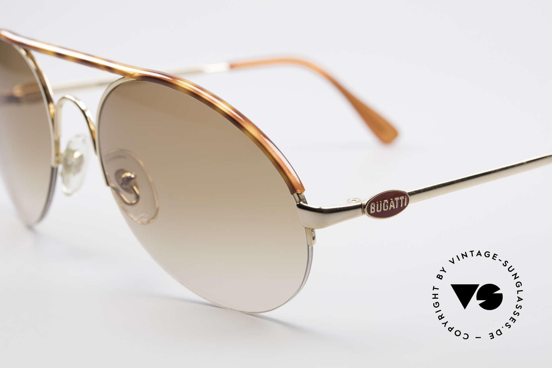 Bugatti 64919 90's Semi Rimless Sunglasses, unworn, NOS (like all our vintage Bugatti eyewear), Made for Men