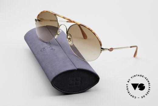 Bugatti 64919 90's Semi Rimless Sunglasses, NO retro shades, but a rare 25 years old ORIGINAL, Made for Men