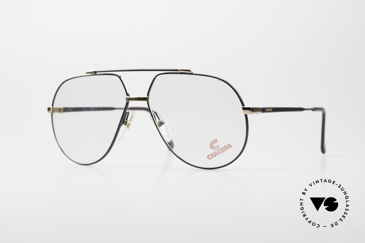 Carrera 5369 Large Vintage Eyeglasses, vintage eyeglasses by CARRERA with double bridge, Made for Men