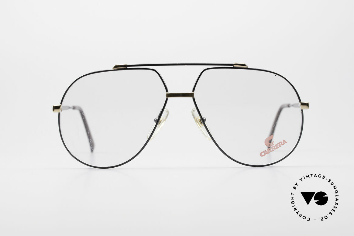 Carrera 5369 Large Vintage Eyeglasses, classic 90's aviator (tear drop shaped) frame design, Made for Men