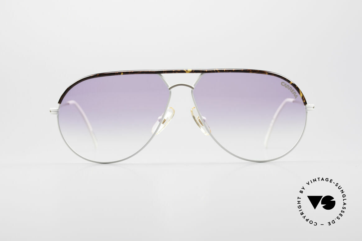 Carrera 5428 Rare Vintage 80's Shades, white / gold frame with a tortoise colored brow bar, Made for Men and Women