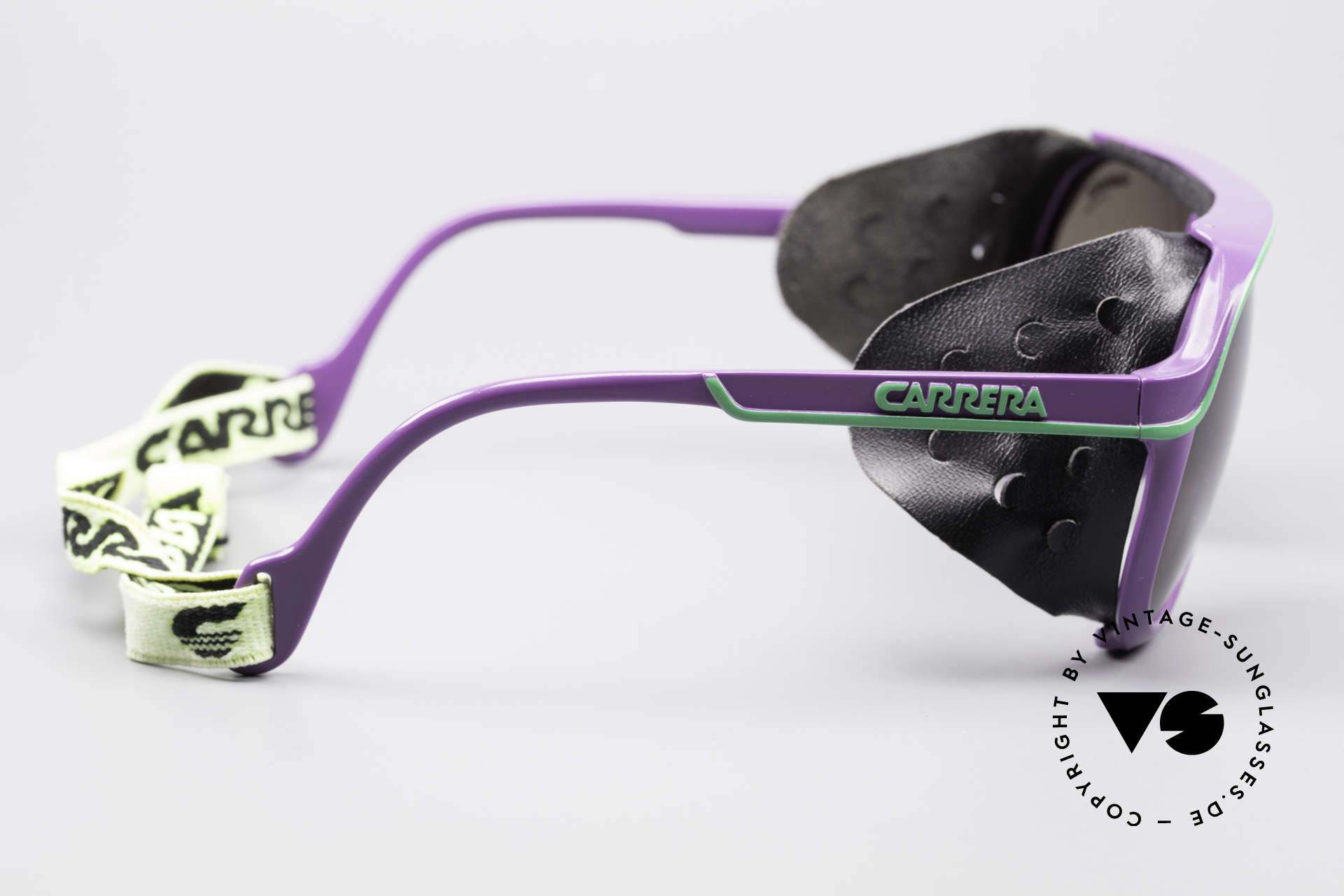 Carrera 5544 Sports Glacier Sunglasses, unique 90's designer original with removable side parts, Made for Men and Women