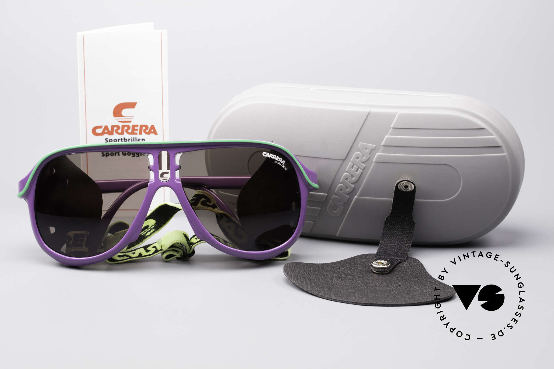 Carrera 5544 Sports Glacier Sunglasses, unworn, NOS (like all our vintage Carrera sports shades), Made for Men and Women