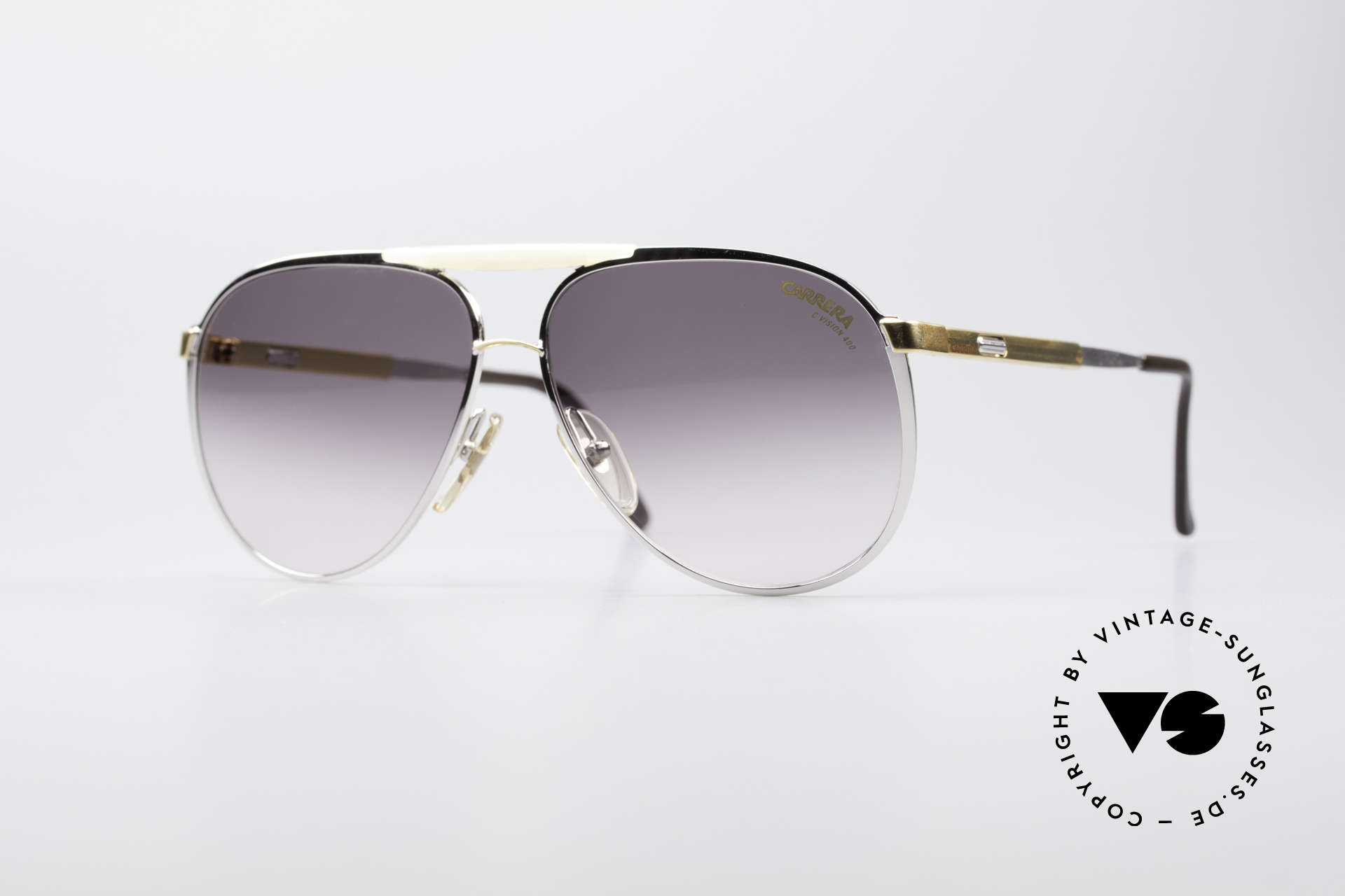 Carrera 5314 - S Adjustable Vario Temples, brilliant 1980's aviator sunglasses by CARRERA, Made for Men and Women