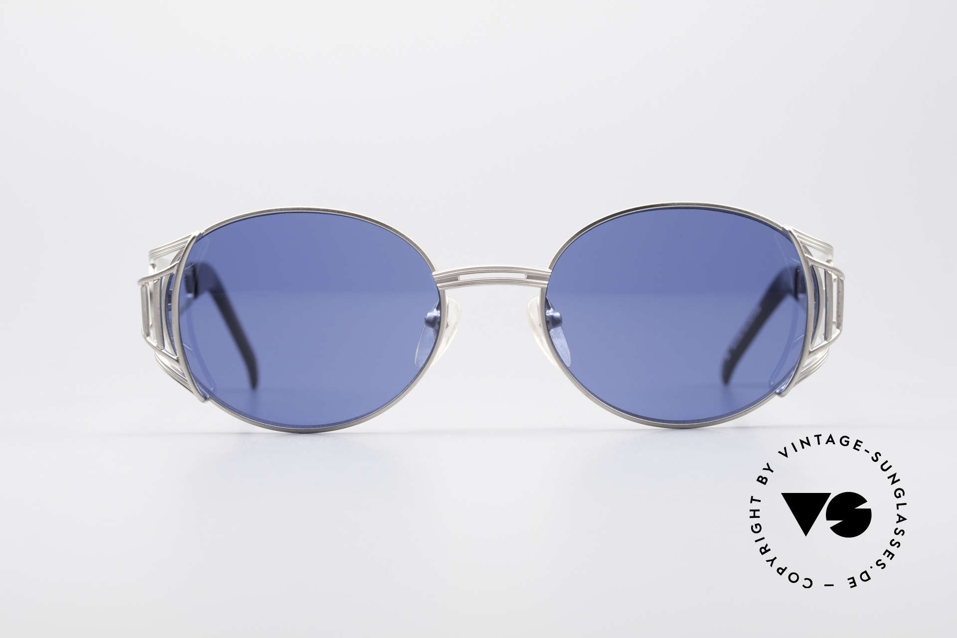 Jean Paul Gaultier 58-6102 Steampunk Sunglasses, titanium-gray JPG designer sunglasses from 1997, Made for Men and Women