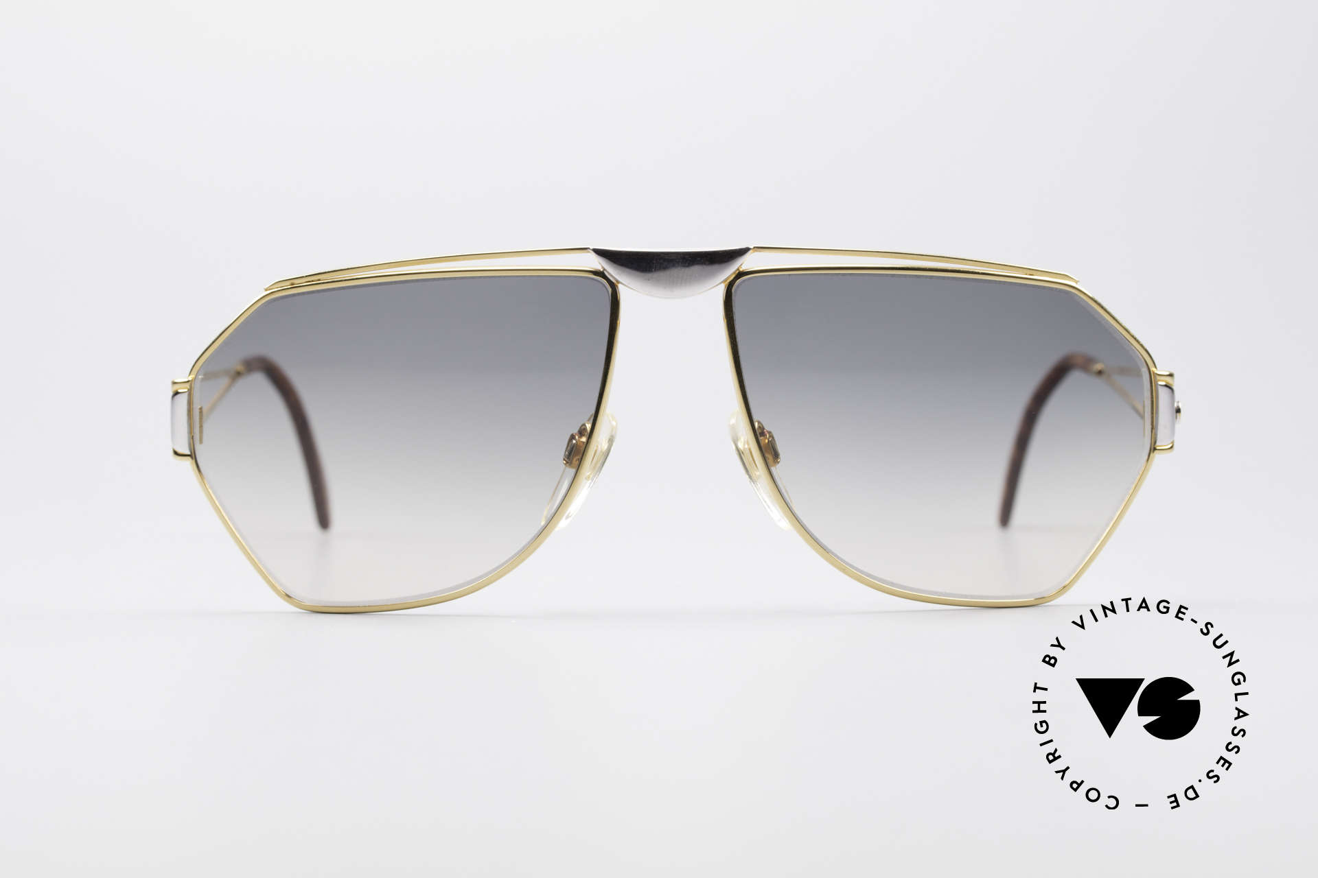 St. Moritz 403 80's Jupiter Sunglasses, designer shades with Jupiter symbol on the left temple, Made for Men