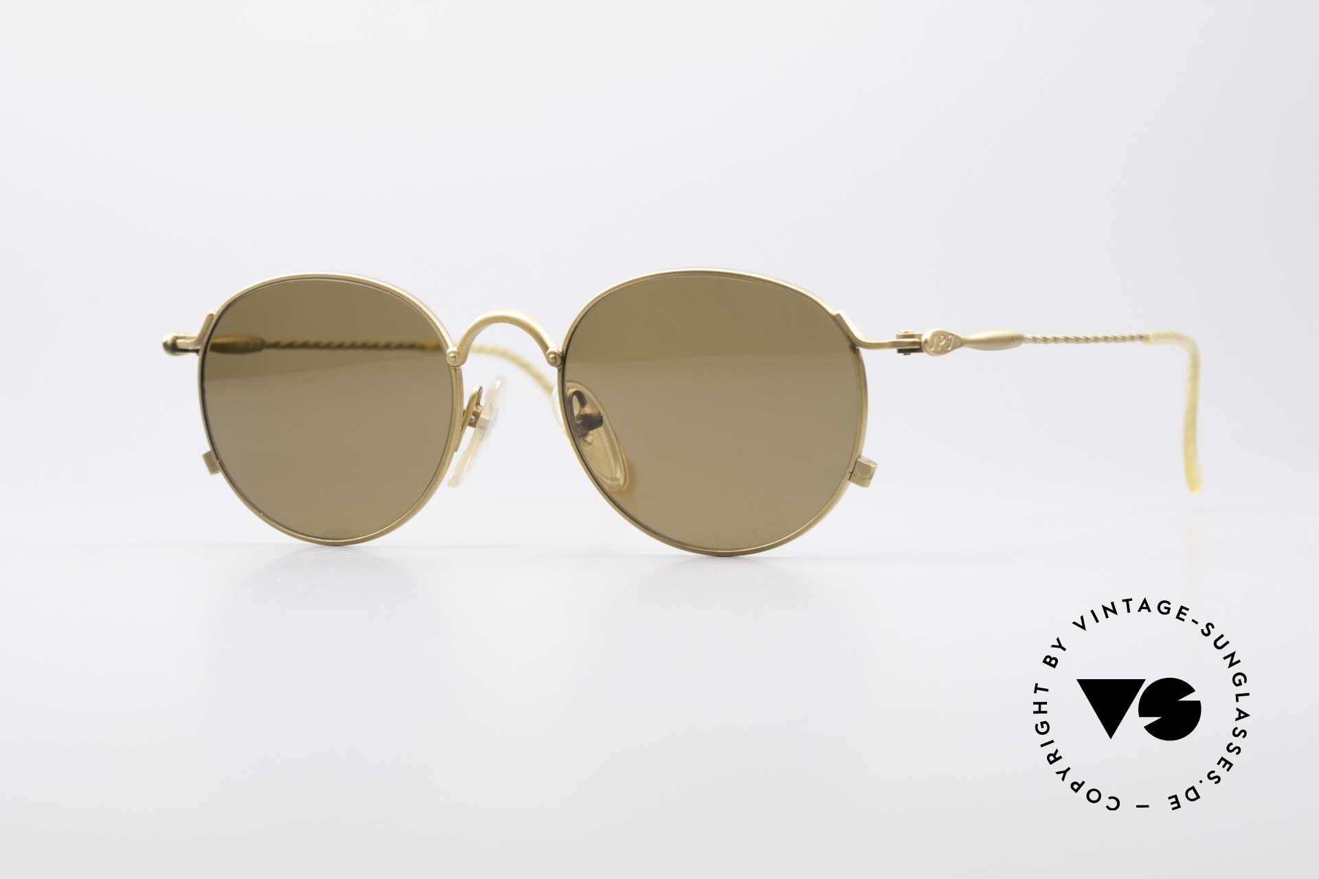 Jean Paul Gaultier 55-2172 Vintage Round JPG Sunglasses, round 90's vintage sunglasses by J.P. Gaultier, Made for Men and Women