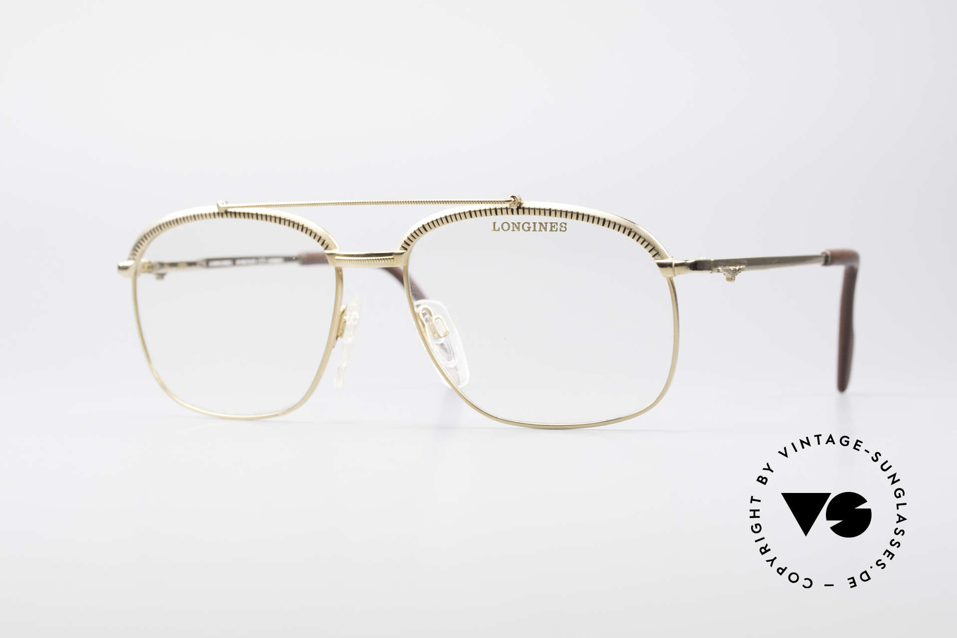 Longines 0172 80's Luxury Eyeglasses, very noble vintage eyeglasses by LONGINES from 1985, Made for Men